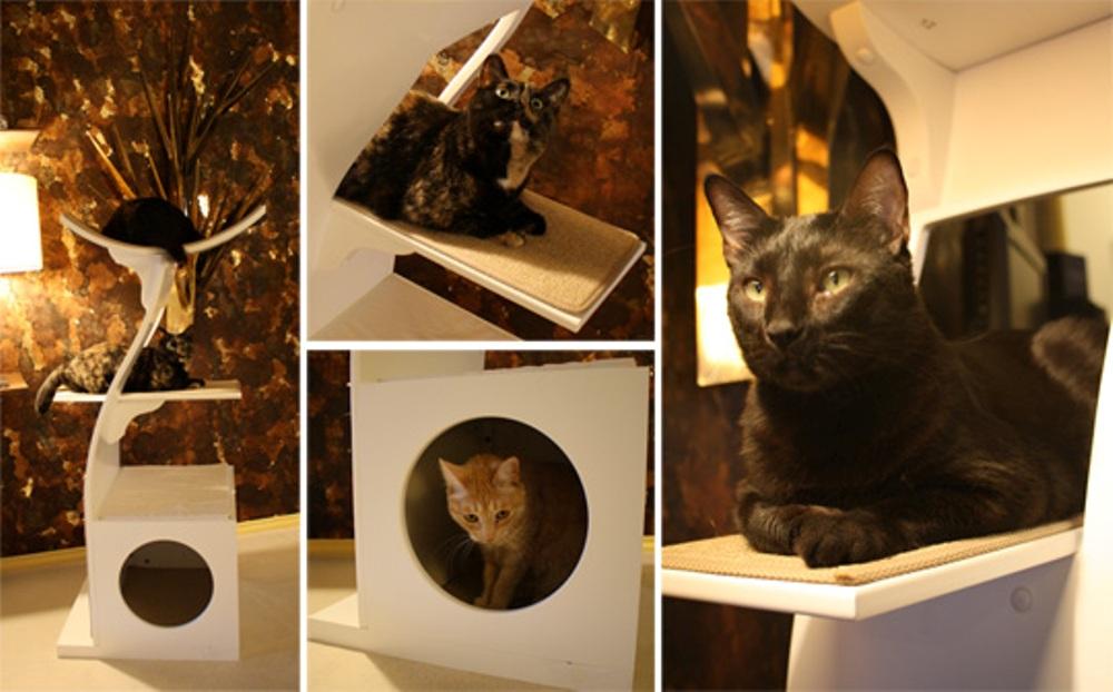 домик башня для кошки