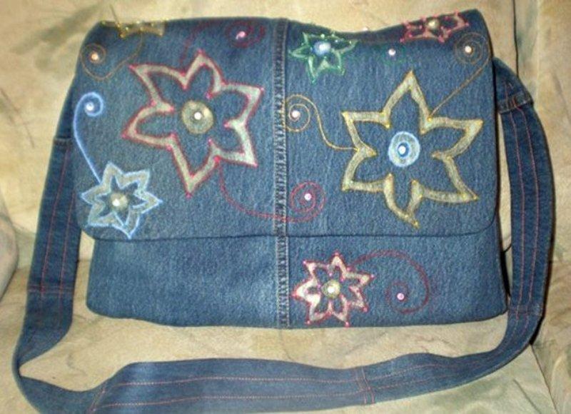 Как сделать сумку из джинсов