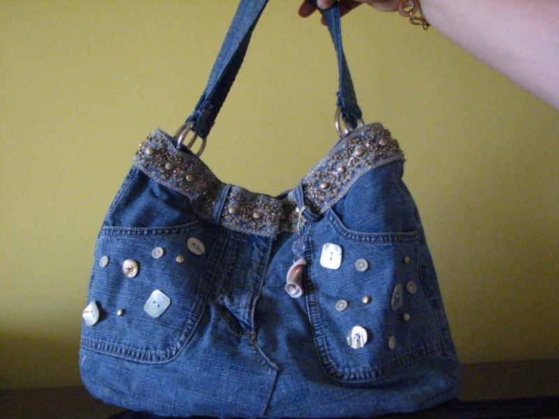 как сделать сумку из старых джинсов пошаговая инструкция