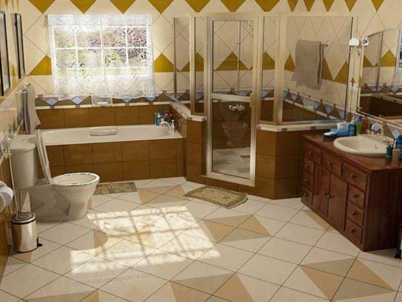 варианты оформление ванной комнаты