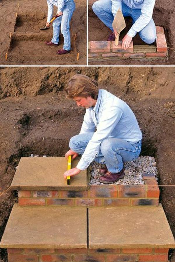 Как сделать ступеньки