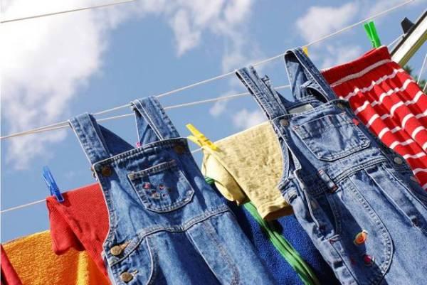 одежда сушится