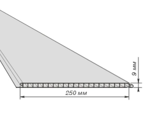 размеры панелей для потолка
