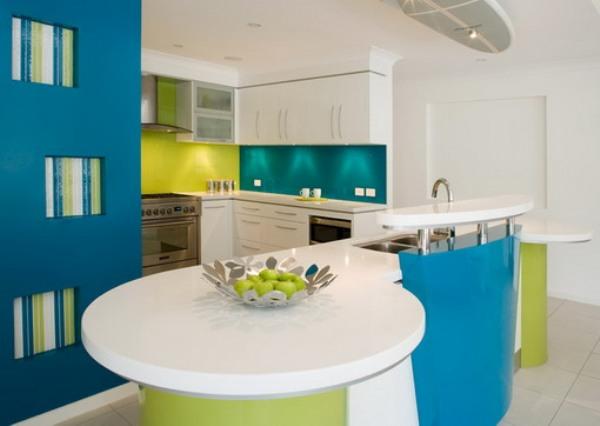 синий на кухне